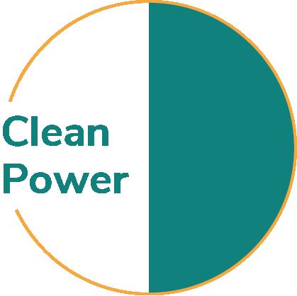 Clean power pie chart