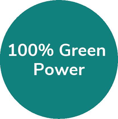 Green power pie chart